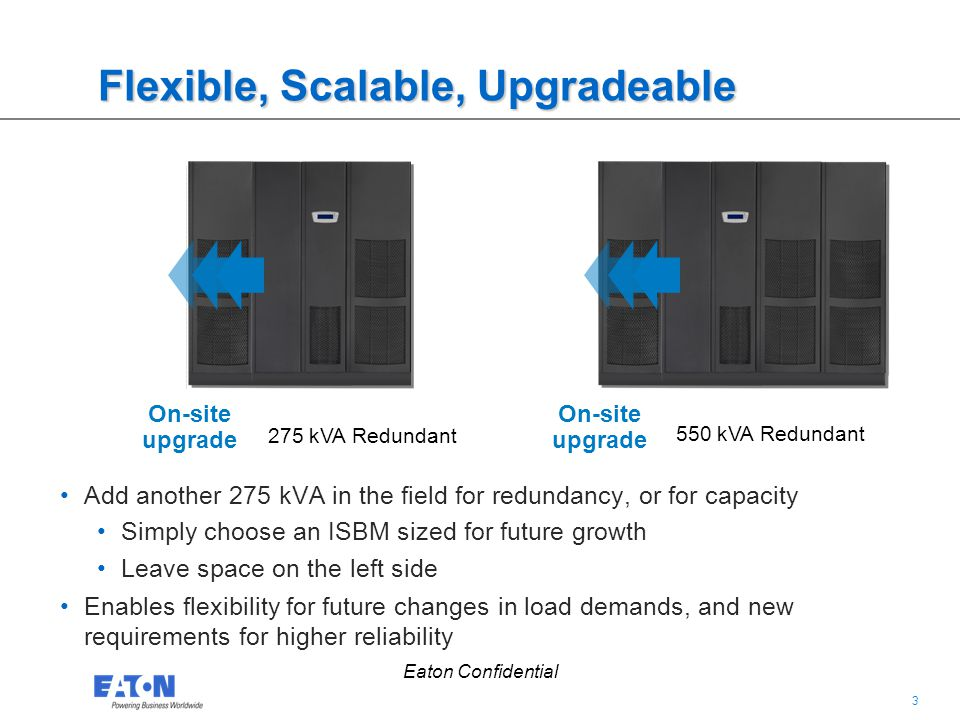 Flexible, Scalable, Upgradeable