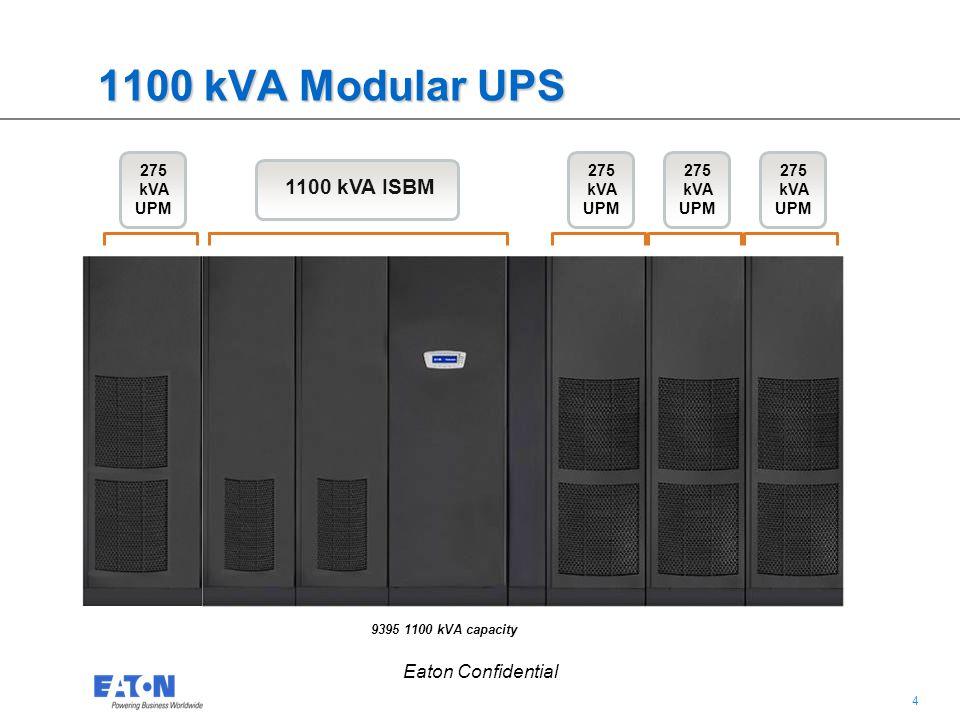 1100 kVA Modular UPS 1100 kVA ISBM Eaton Confidential 275 kVA UPM
