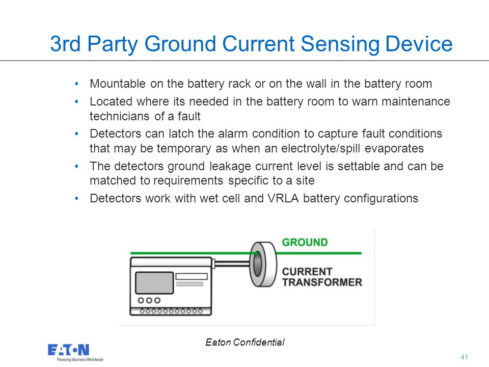 3rd Party Ground Current Sensing Device