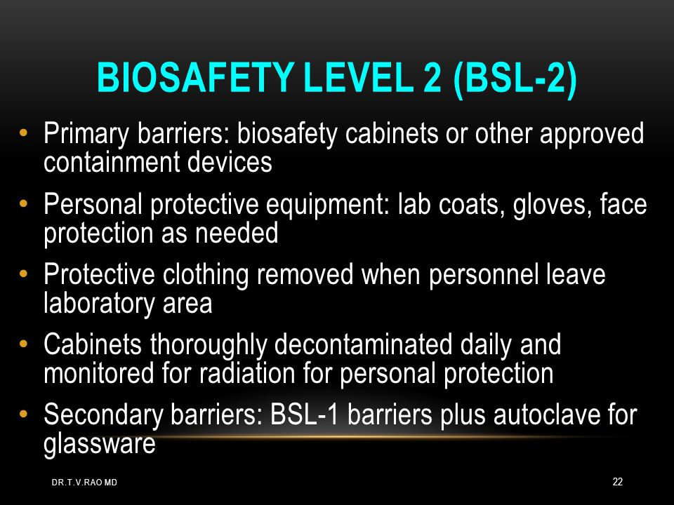 Biosafety Level 2 (BSL-2)