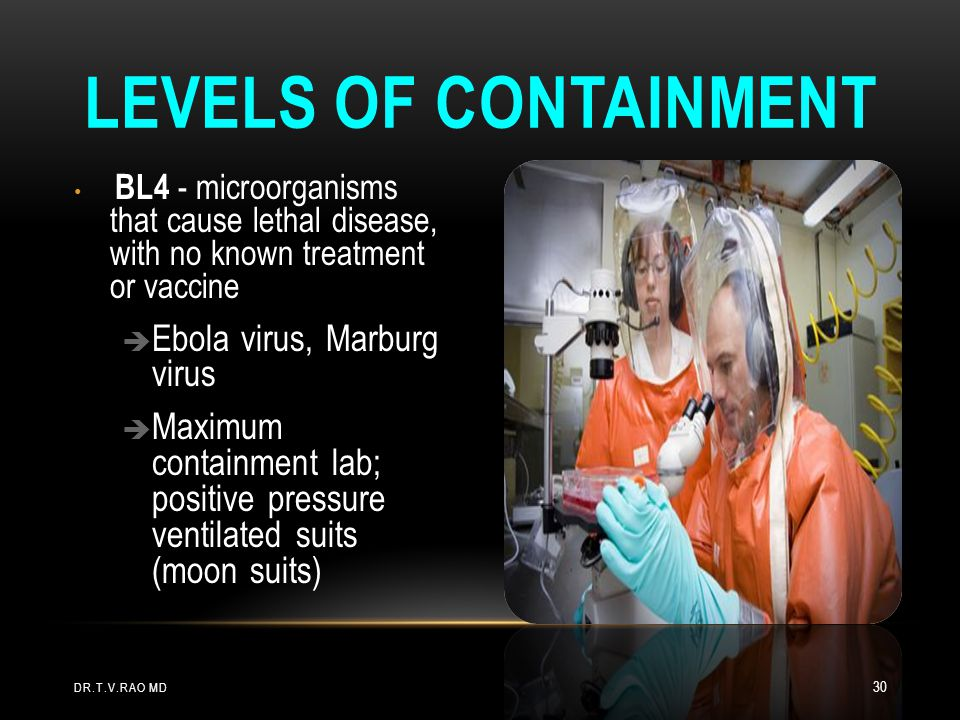 Levels of Containment Ebola virus, Marburg virus