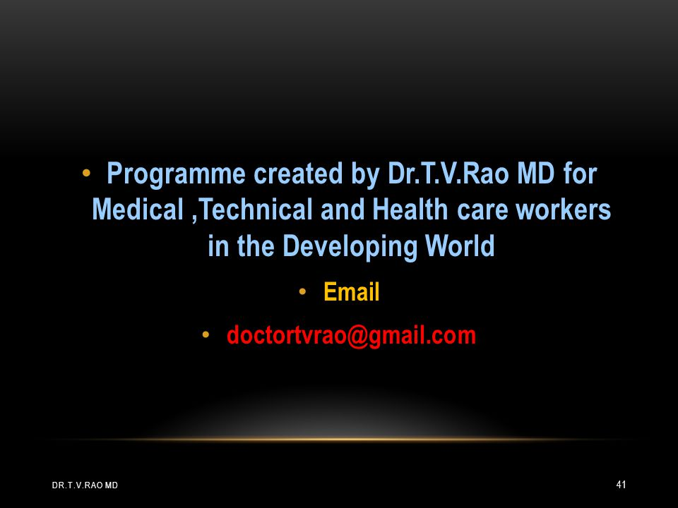 Programme created by Dr. T. V