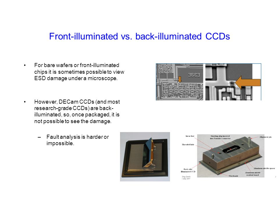 Front-illuminated vs. back-illuminated CCDs