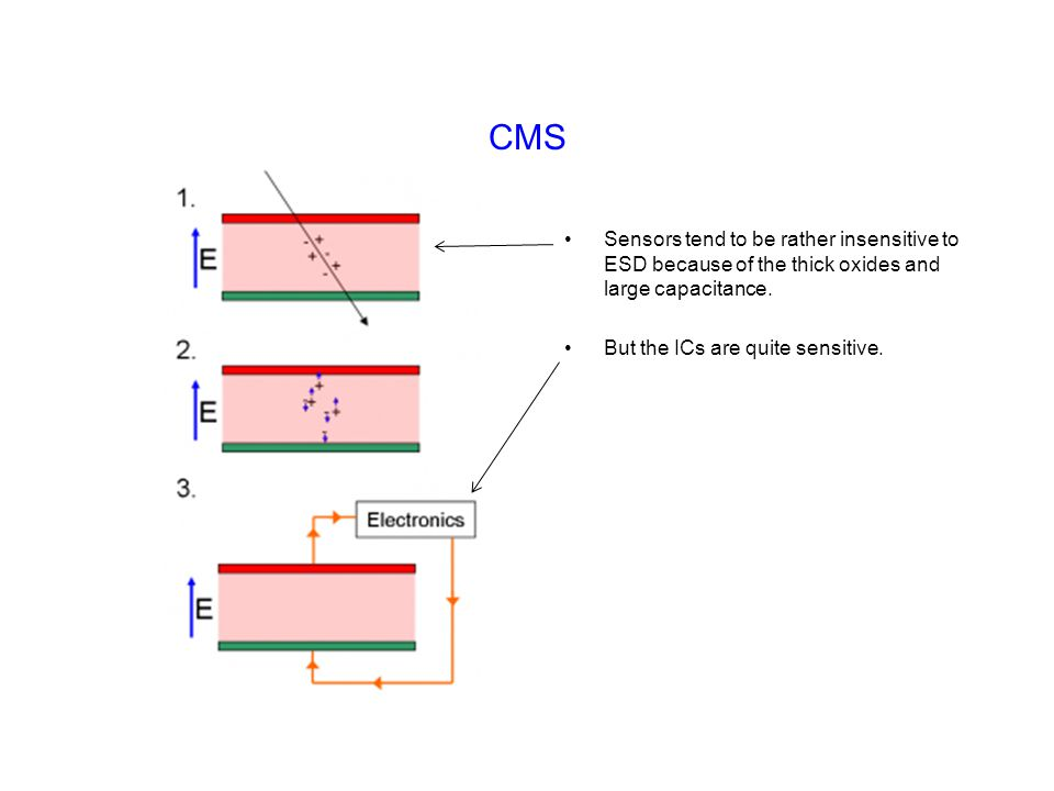 CMS Sensors tend to be rather insensitive to ESD because of the thick oxides and large capacitance.