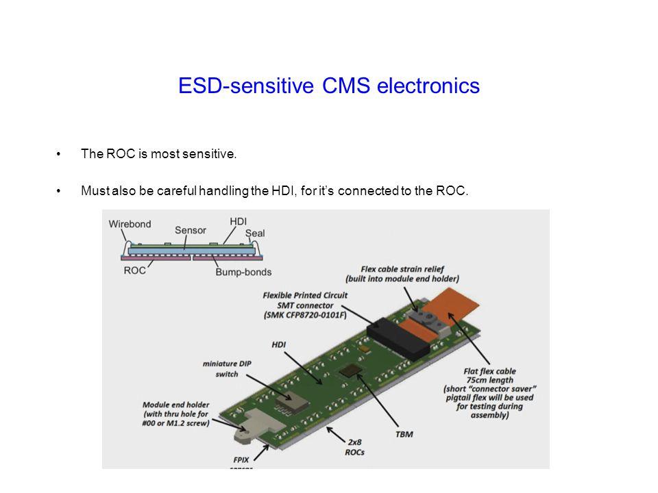 ESD-sensitive CMS electronics