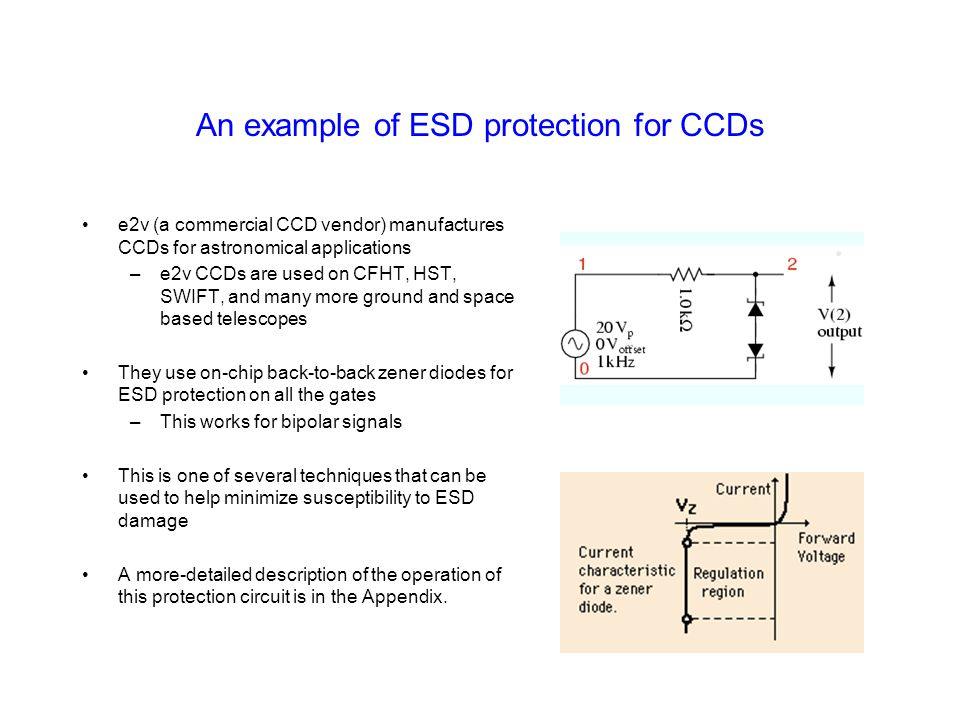 An example of ESD protection for CCDs
