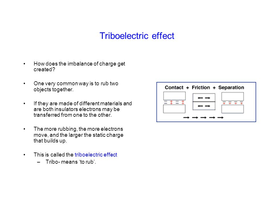 Triboelectric effect How does the imbalance of charge get created