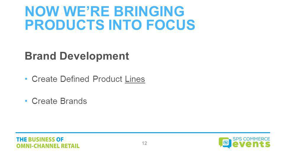 Now WE'RE Bringing Products Into Focus