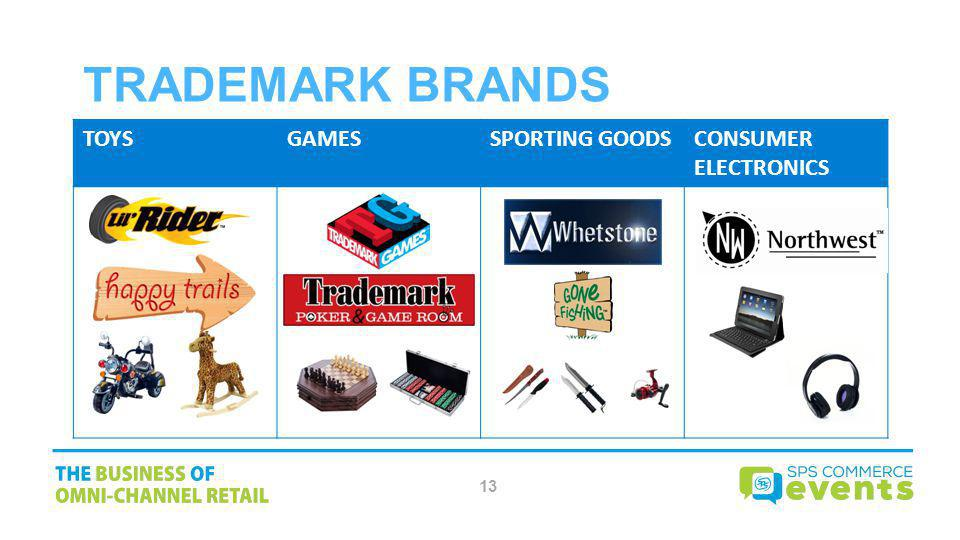 Trademark Brands TOYS GAMES SPORTING GOODS CONSUMER ELECTRONICS 13