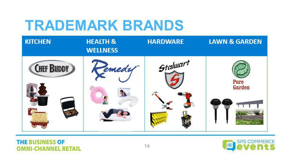 Trademark Brands KITCHEN HEALTH & WELLNESS HARDWARE LAWN & GARDEN 14