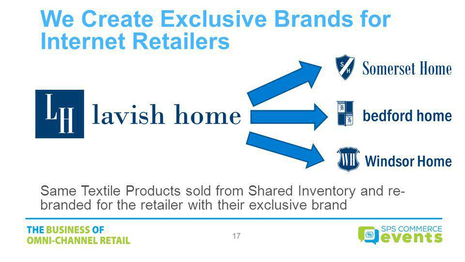 We Create Exclusive Brands for Internet Retailers
