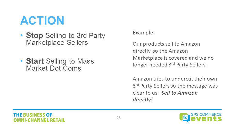 Action Stop Selling to 3rd Party Marketplace Sellers