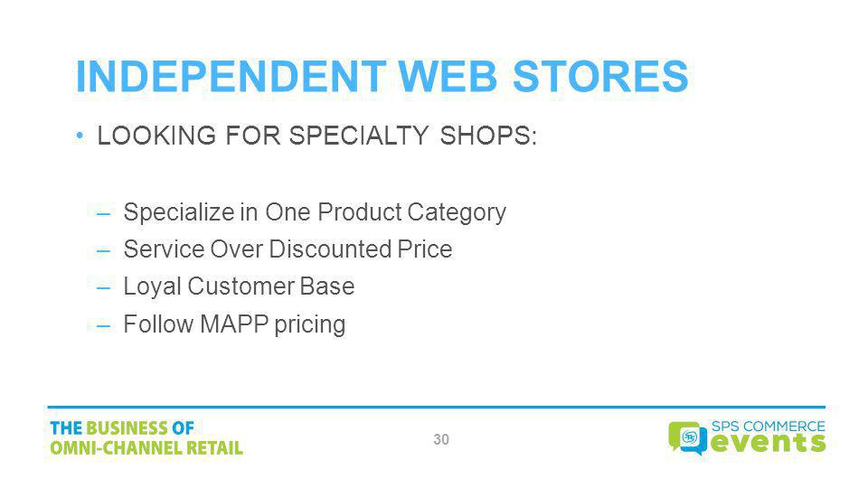 INDEPENDENT WEB STORES