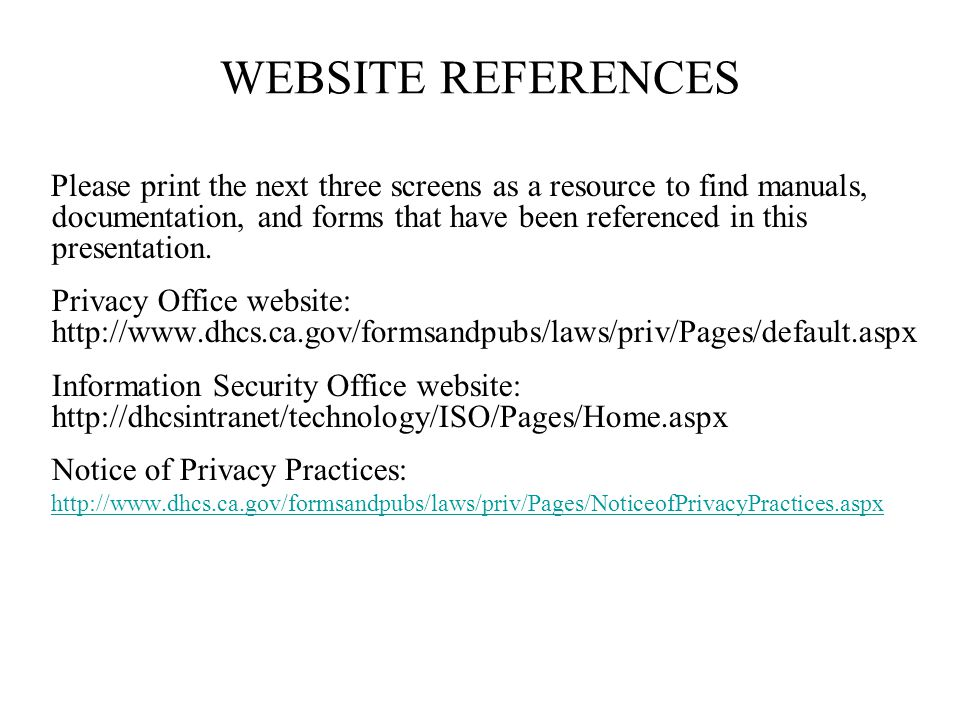 WEBSITE REFERENCES