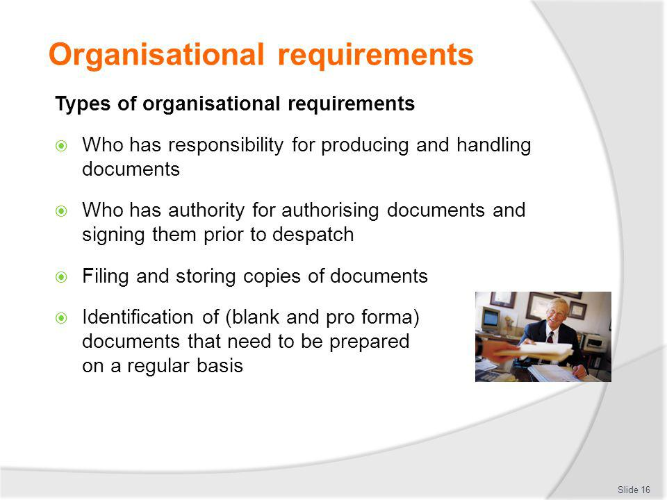 how to meet organisational requirements