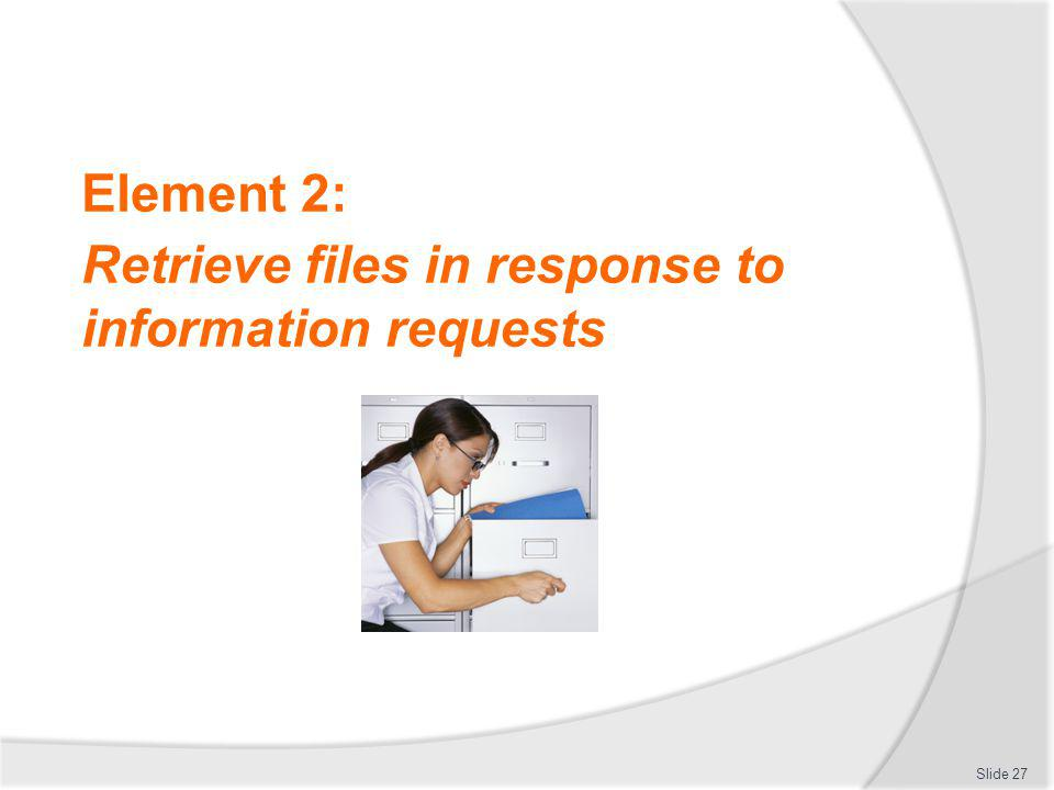 Retrieve files in response to information requests