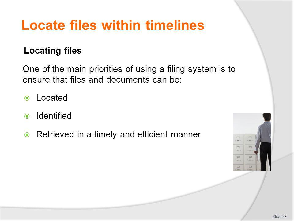 Locate files within timelines