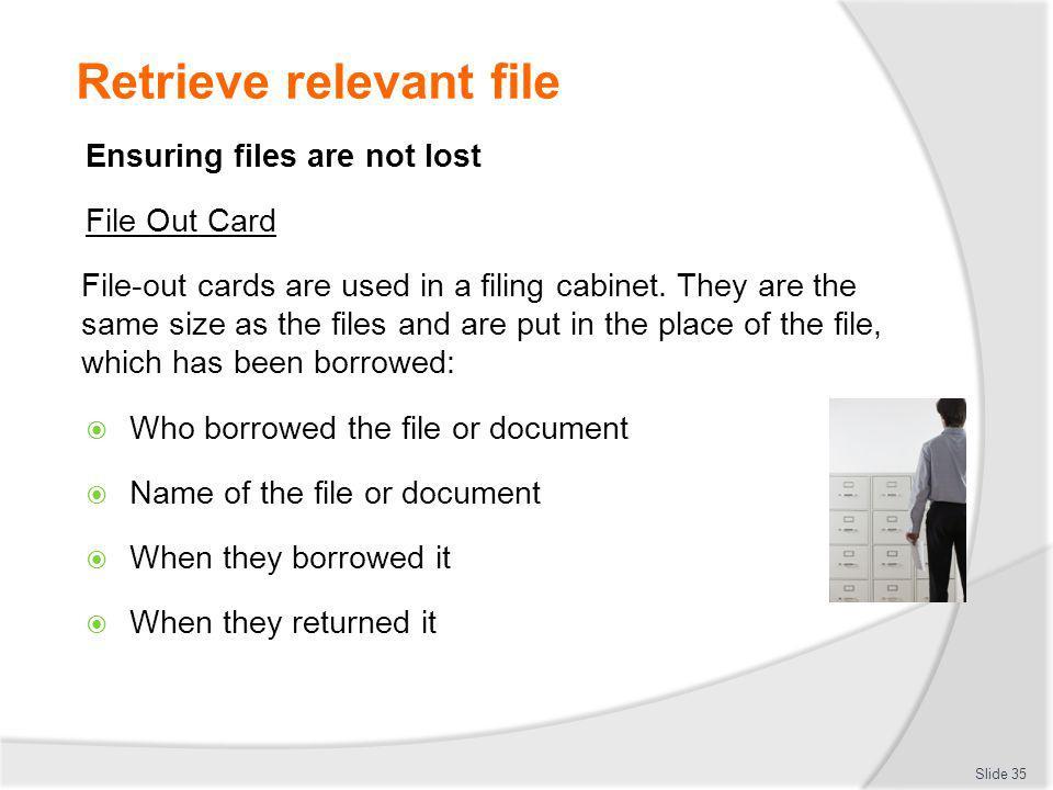 Retrieve relevant file