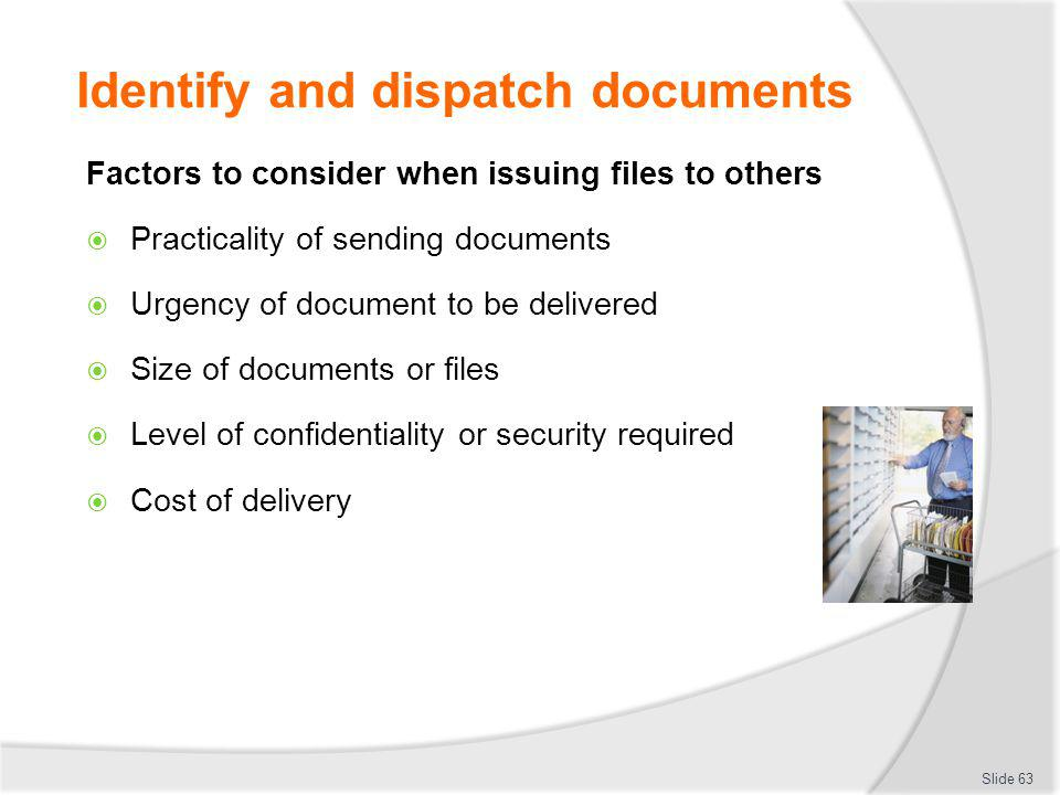 Identify and dispatch documents