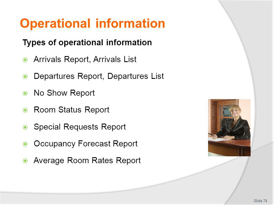 Operational information