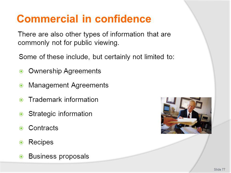 Commercial in confidence
