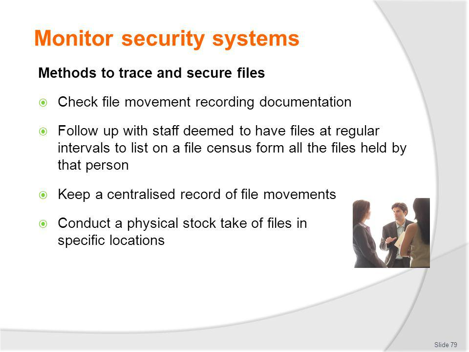 Monitor security systems