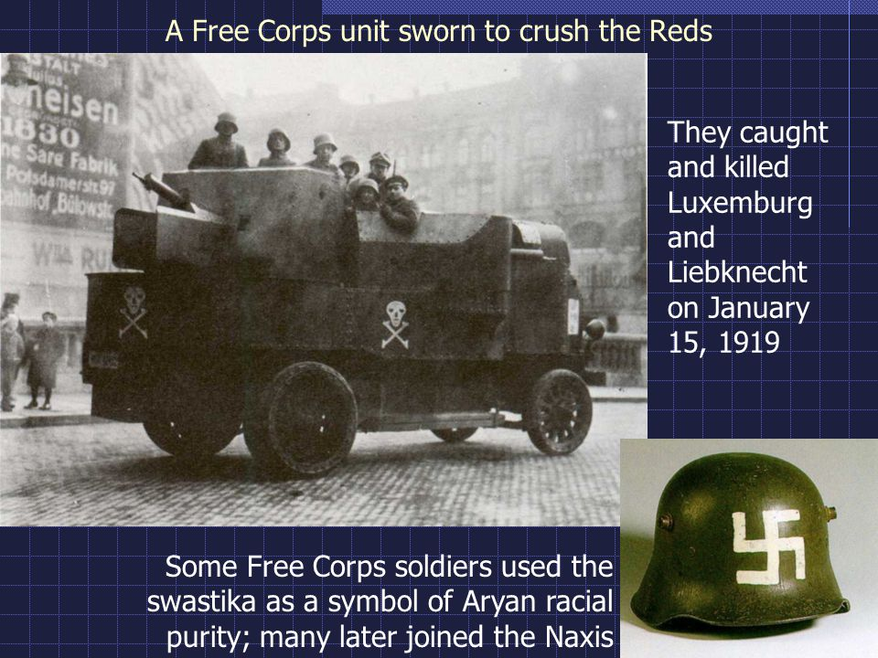 A Free Corps unit sworn to crush the Reds