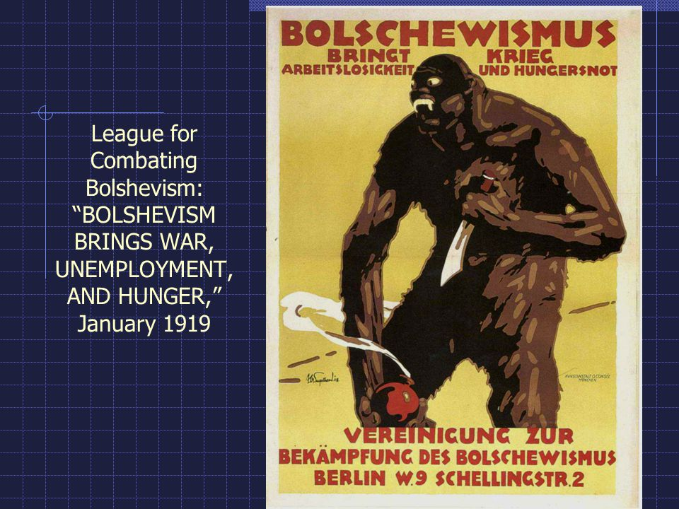 League for Combating Bolshevism: BOLSHEVISM BRINGS WAR, UNEMPLOYMENT, AND HUNGER, January 1919