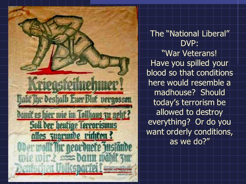 The National Liberal DVP: War Veterans
