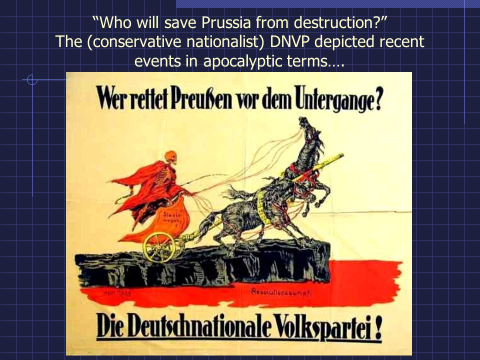 Who will save Prussia from destruction