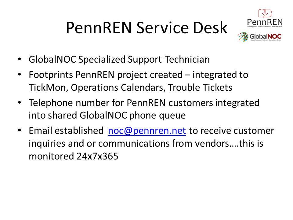 PennREN Service Desk GlobalNOC Specialized Support Technician