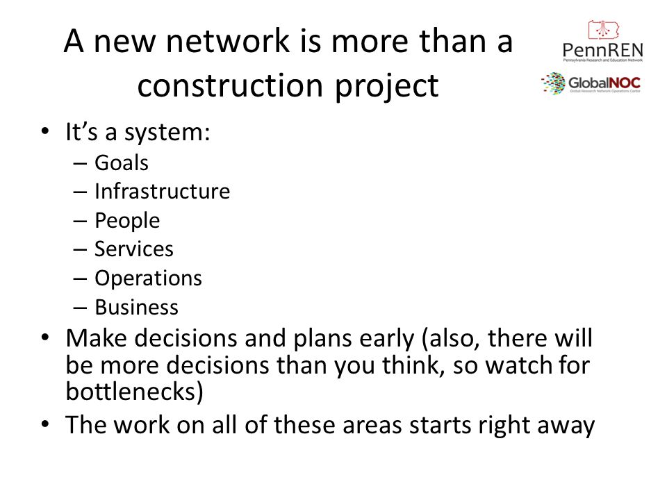 A new network is more than a construction project