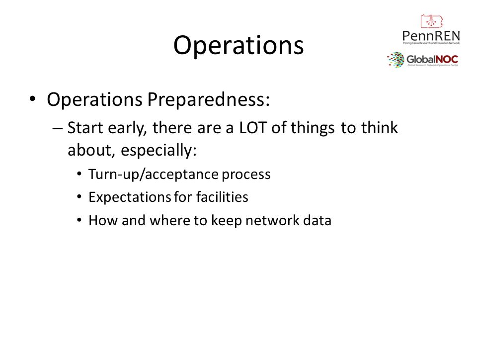 Operations Operations Preparedness: