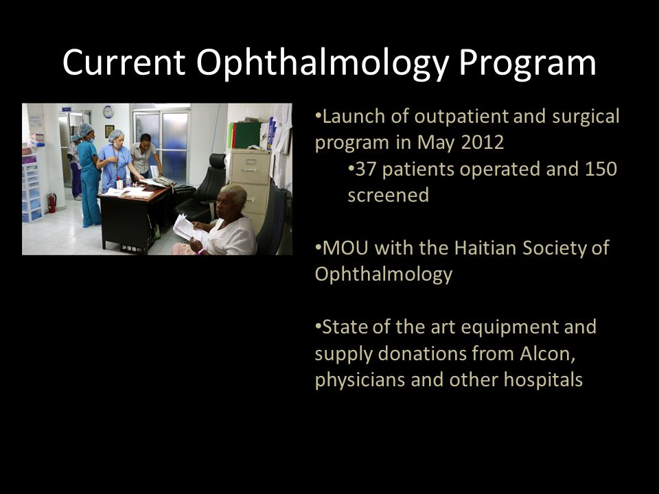 Current Ophthalmology Program