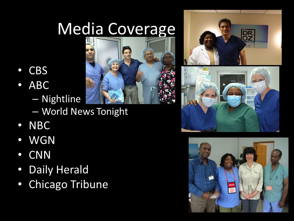 Media Coverage CBS ABC NBC WGN CNN Daily Herald Chicago Tribune