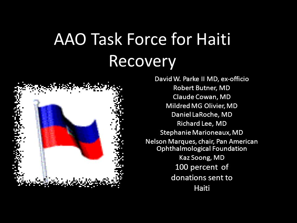 AAO Task Force for Haiti Recovery