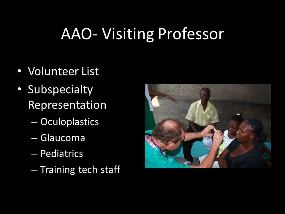 AAO- Visiting Professor