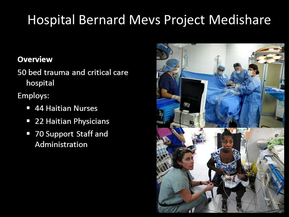 Hospital Bernard Mevs Project Medishare