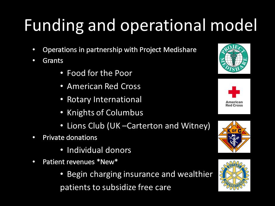 Funding and operational model