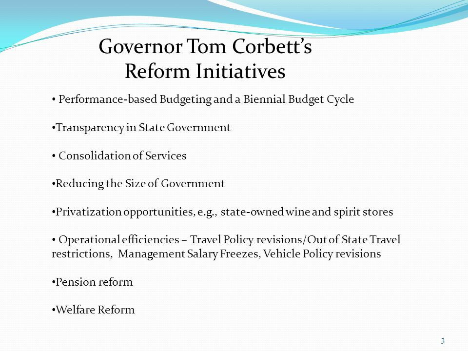 Governor Tom Corbett's