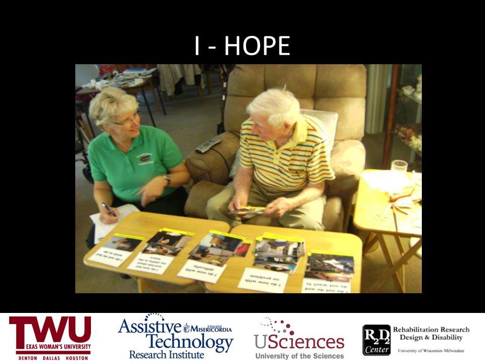 I - HOPE Card sort- step 1