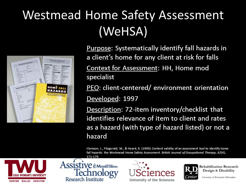 Westmead Home Safety Assessment (WeHSA)