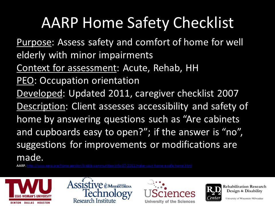 AARP Home Safety Checklist