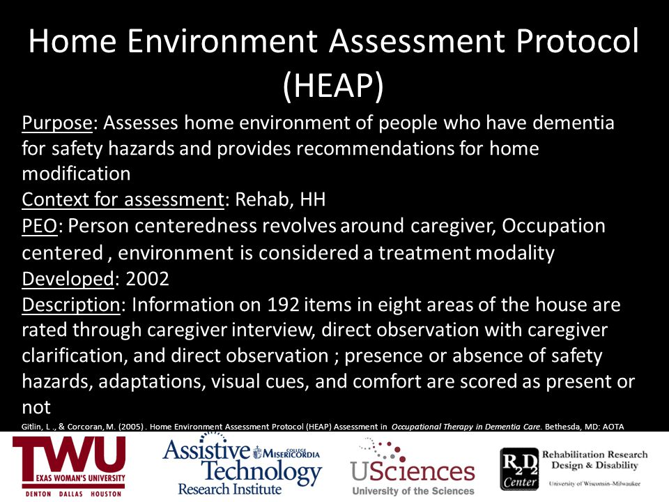 Home Environment Assessment Protocol (HEAP)