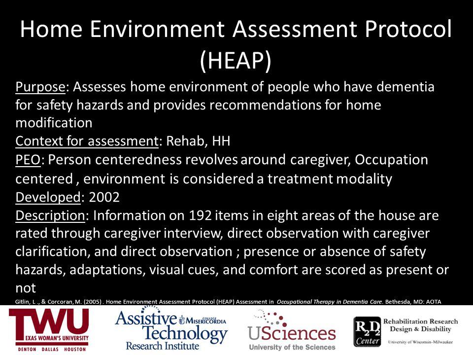Home Environment Assessment Protocol (HEAP)