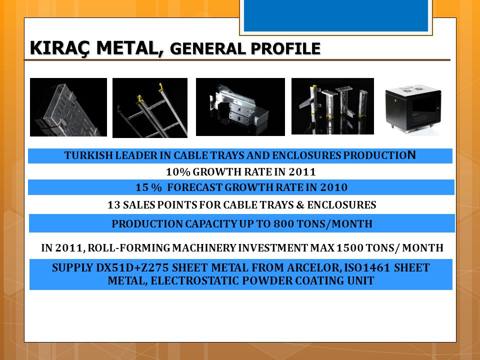 KIRAÇ METAL, GENERAL PROFILE