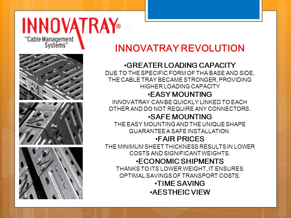 INNOVATRAY REVOLUTION GREATER LOADING CAPACITY