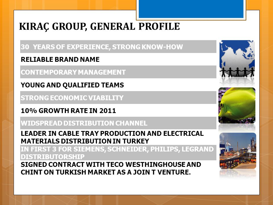 KIRAÇ GROUP, GENERAL PROFILE