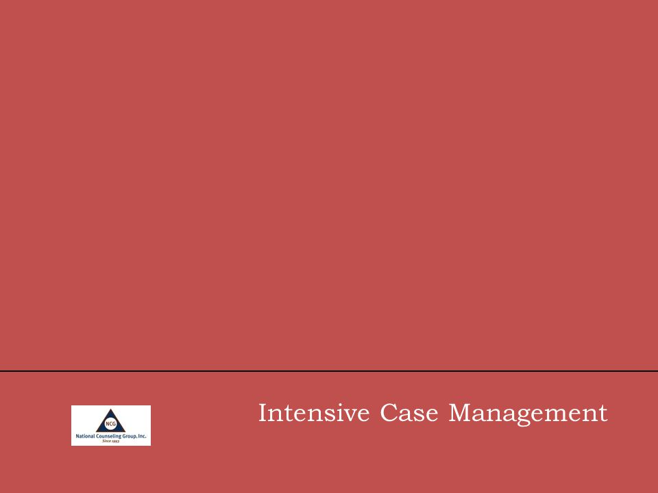 Intensive Case Management