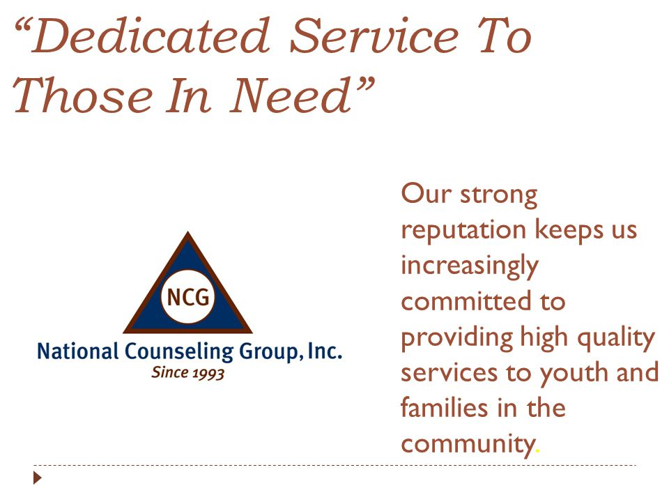 Dedicated Service To Those In Need